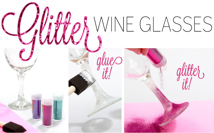 Glitter Wine Glasses-1