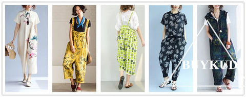 Jumpsuits with Retro Prints