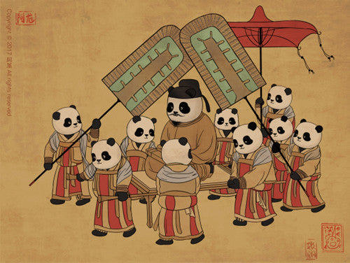 Panda and Ancient Chinese Painting-1