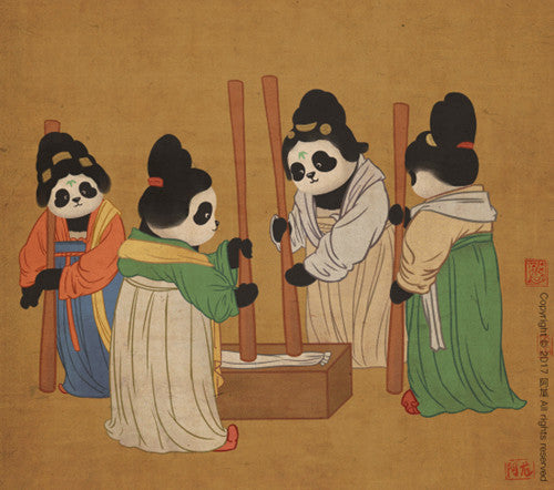 Panda and Ancient Chinese Painting-3
