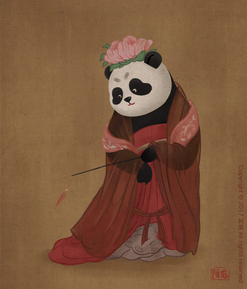 Panda and Ancient Chinese Painting-6