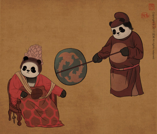 Panda and Ancient Chinese Painting-8