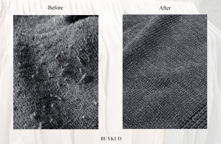 Remove Sweater Pilling Before & After