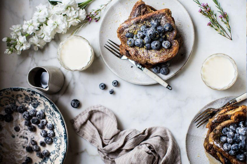 Sugared Blueberries Toast