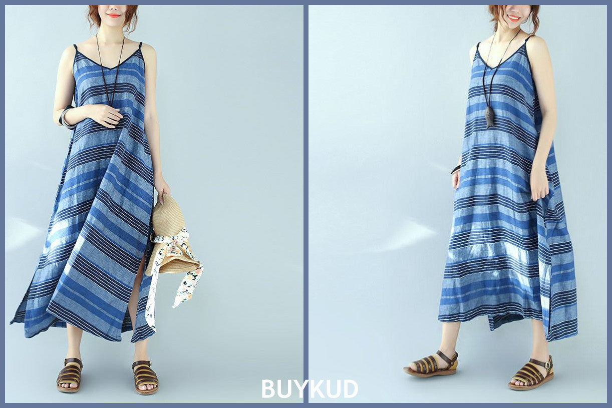 Stripe Loose Slip Dress
