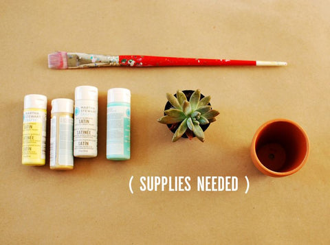 Supplies Needed for Pot DIY