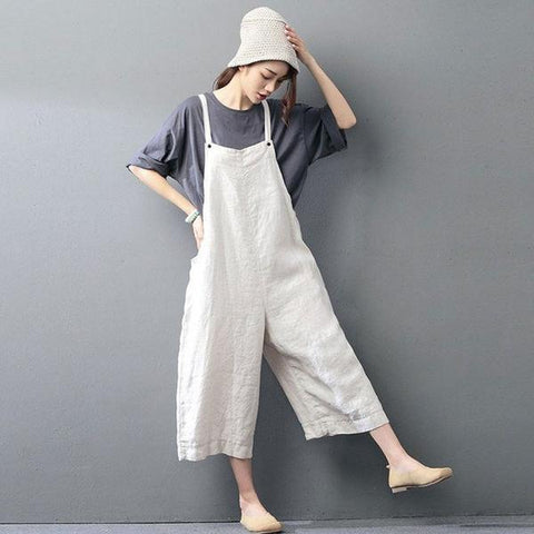 Casual loose jumpsuit linen overall