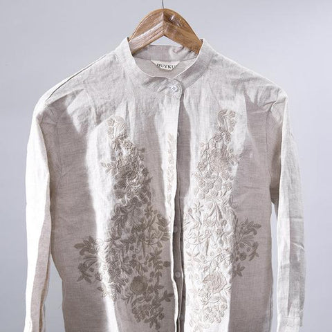 Linen Embroidered Shirt
