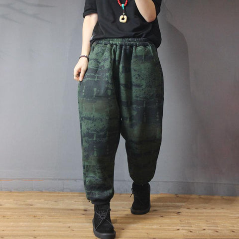 New Winter Velvet Casual Retro Harem Pants