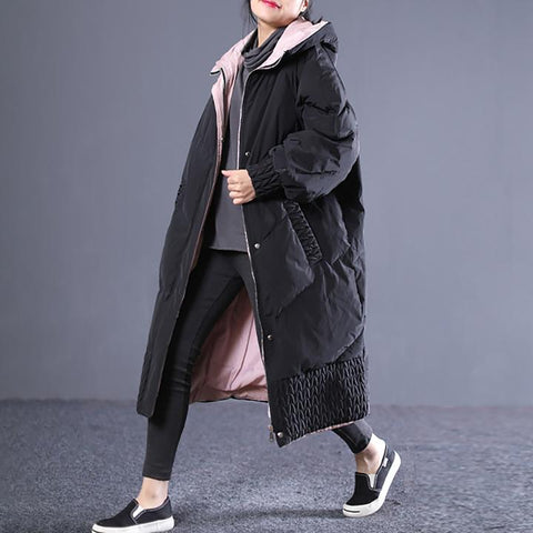 Winter Zipper Up Hooded Women Cotton Coat