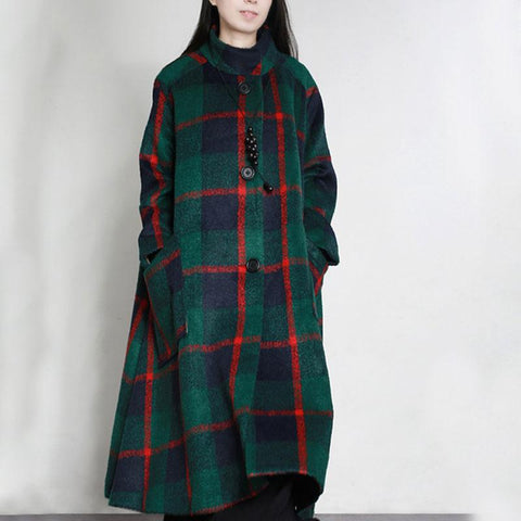 Women Loose Wool Coat Casual Winter Overcoat
