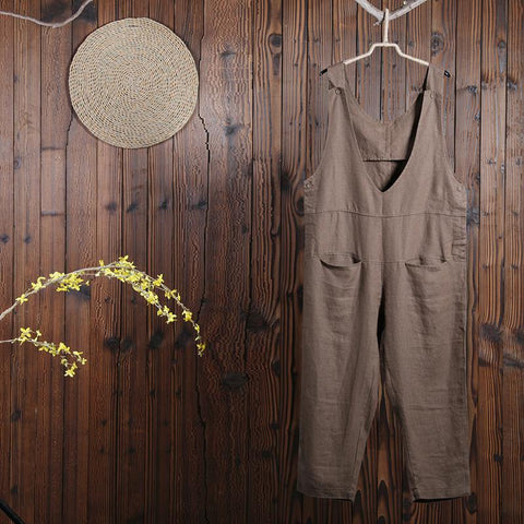 Women Spring Casual Overalls Ankle Length Jumpsuit