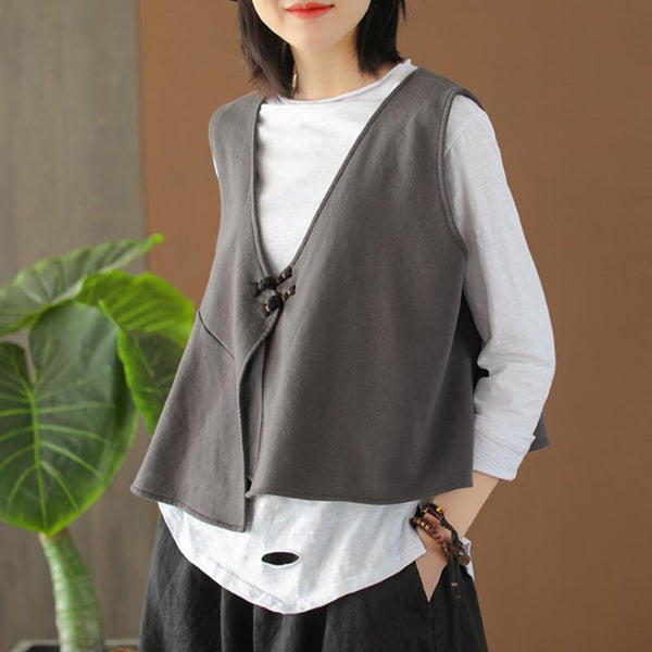 Cotton Long Sleeve T-Shirt and Loose Vest M-3XL