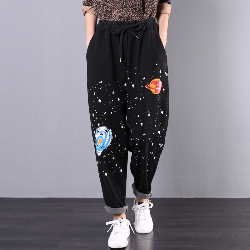 Buykud Comfortable Loose Printed Casual Harem Pants