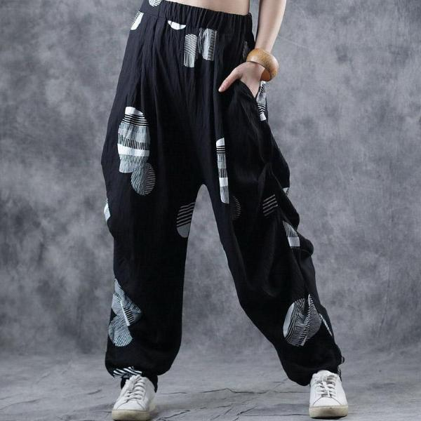 Cotton Casual Circle Lantern Women Pants