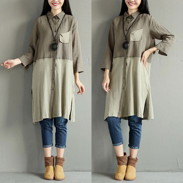 Women Casual Spring Long Shirt