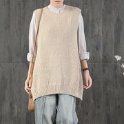 Buykud Three-row Button Design Casual Loose Sweater
