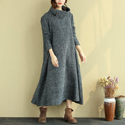 Winter Loose Turtleneck Casual Dress For Women - Buykud
