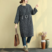 Winter Long Sleeve Jacquard Zipper Dress For Women - Buykud