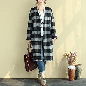 Winter Loose Lattice Casual Thin Coat For Women - Buykud