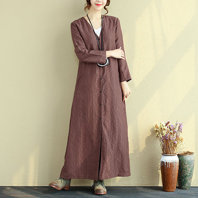 Autumn V Neck Fitting Long Sleeve Dress For Women - Buykud