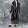 Women Woolen Long Sleeve Loose Warm Cardigan Printing Coat - Buykud