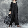 Winter Women Round Neck Three Quarter Sleeve Single Breasted Woolen Coat - Buykud