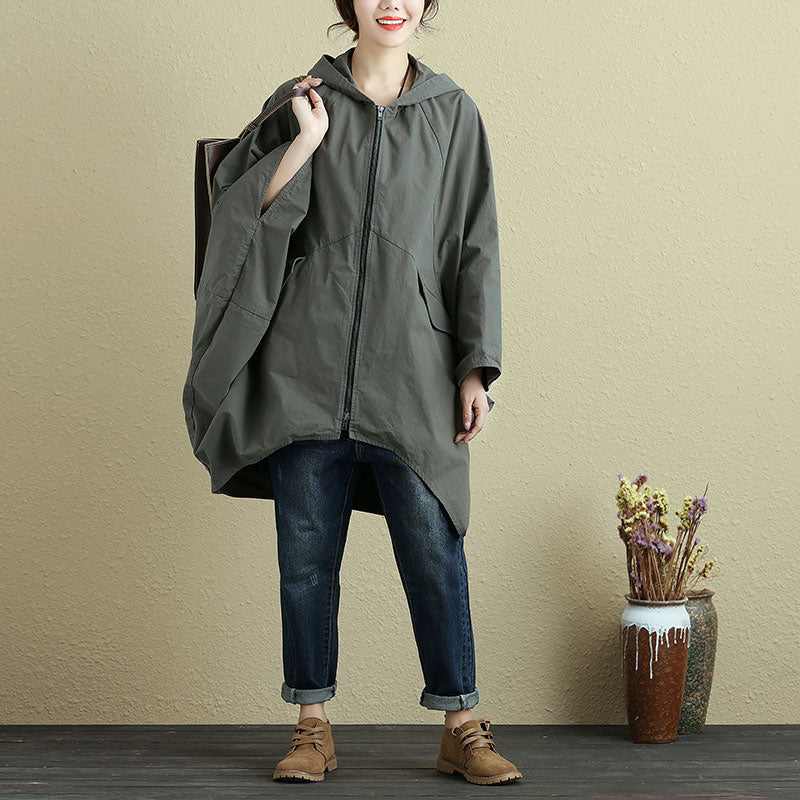 Autumn Casual Loose Bat Sleeve Coat For Women - Buykud