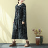 Women Casual Long Sleeve Round Neck Dress - Buykud