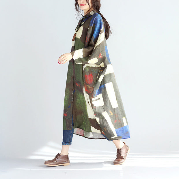 Spring Women Linen Long Shirt - Buykud