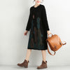 Winter Round Neck Knitted Long Sleeve Sweater Dress For Women - Buykud