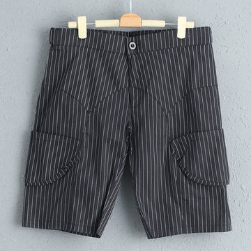 Stripe Summer Women Acrylic Polyester Short Pants
