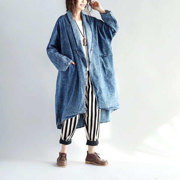 Irregular Loose Women Denim Coat