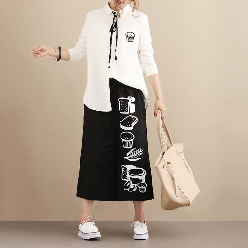 Simple Casual Autumn Long Sleeve Women White Shirt - Buykud