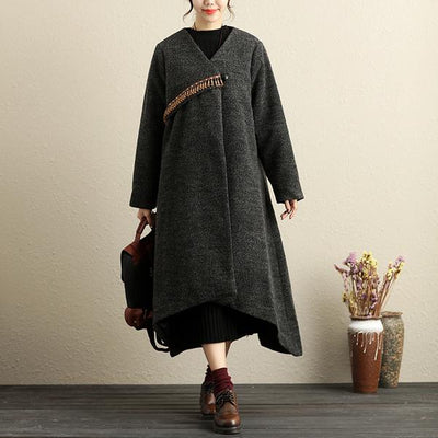 Winter Popular Accessories Trim Irregular Hem Red Coat For Women