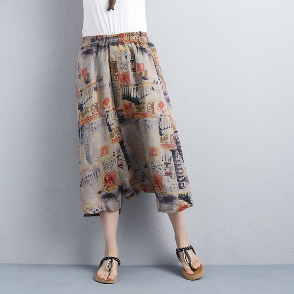 Women Calf-Length Low-Crotch Loose Pants - Buykud