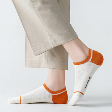 100% Cotton Casual Spring Summer Thin Socks(6 Pairs)