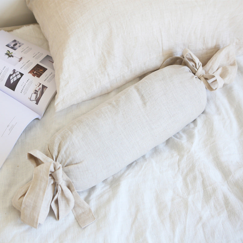 100% Linen Pure Color Candy Shaped Pillowcase