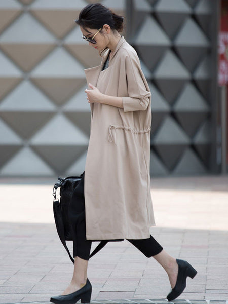 Beige Lace Cotton Coat