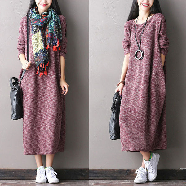Stretch Cotton Knit Dress
