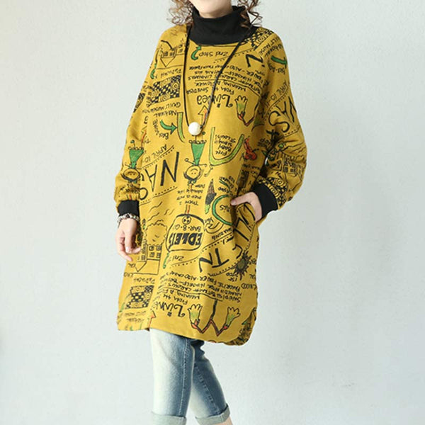 Yellow Knitted Cotton Coat