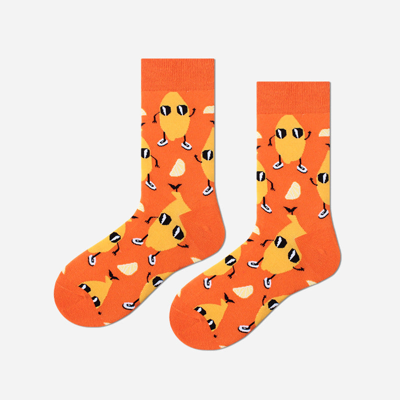 Cartoon Prints Unisex Autumn Stockings