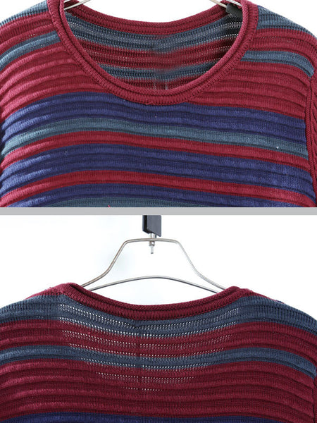Cotton Knitting Sweater, Red and Blue Casual Loose Style-Free size: US 6-14 - Buykud