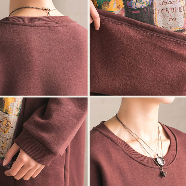 Women Cotton Casual Loose Long Sleeve Large Size Blouse