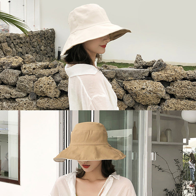Cotton Beach Vacation Women Sun Protection Summer Hat