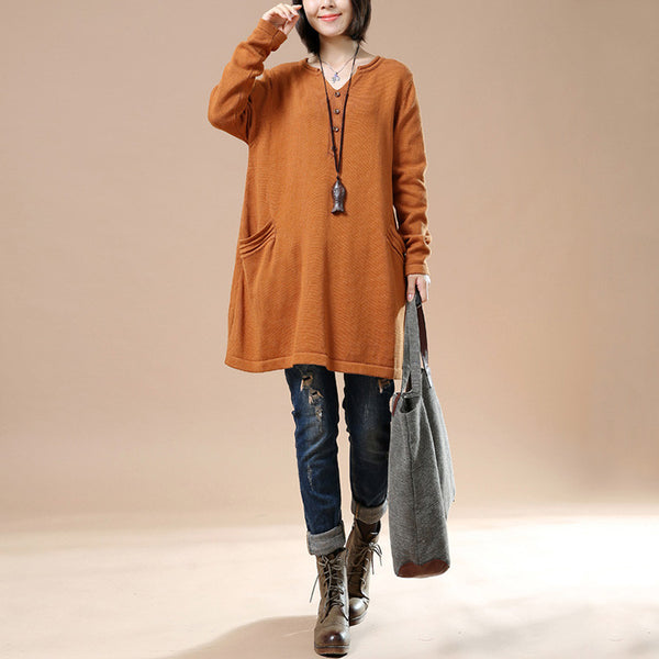 Women Autumn Loose Long Sleeve Sweater