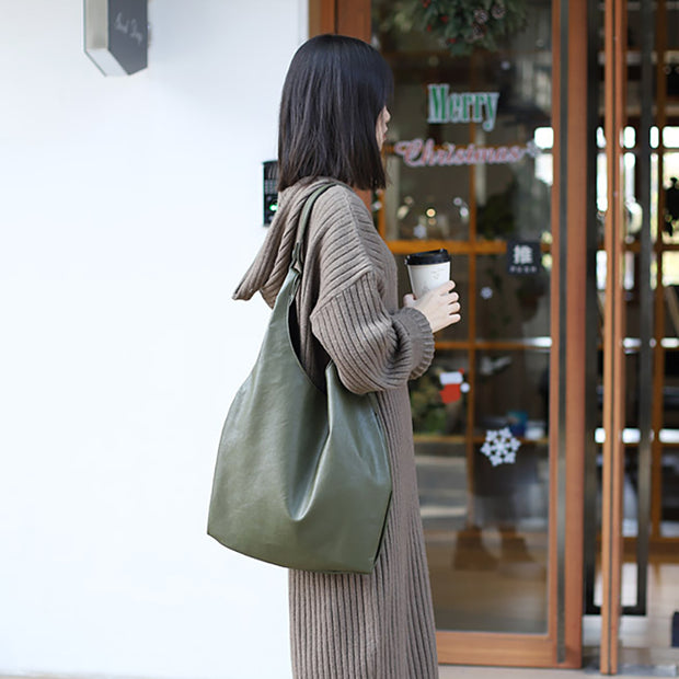 Buykud Simple And Stylish Soft Leather Shoulder Bag