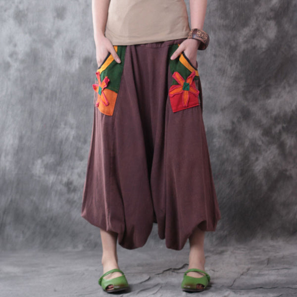 Retro Casual Linen Harlan Wide Leg Pants