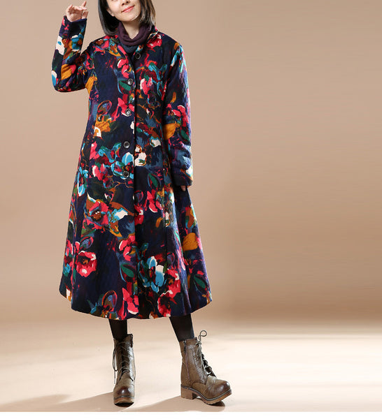 Women Print Winter Coat