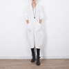 Women Autum Spring Round Nech Long Sleeve Coat